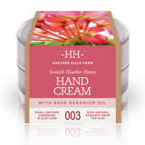 100% Natural Scottish Heather Honey Hand Cream - Rose Geranium